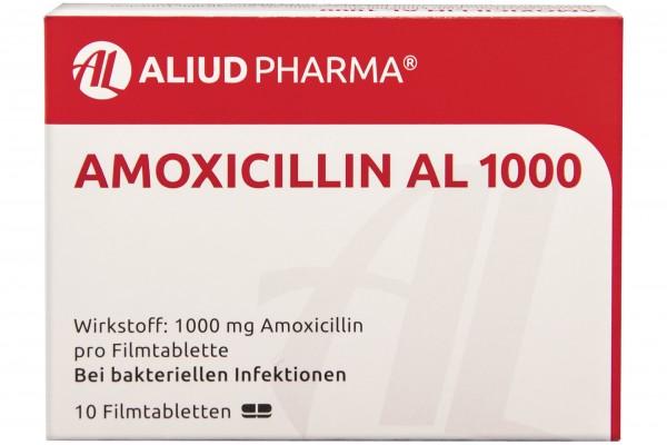 AMOXICILLIN AL 1000 mg Filmtabletten 10 Stück