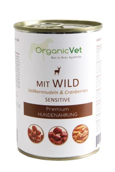 OrganicVet sensitive für Hunde Nassfutter 400 g Dose