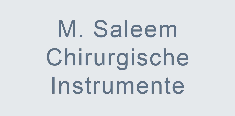 M. Saleem Chirurgische Instrumente