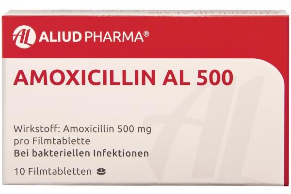 AMOXICILLIN AL 500 mg Filmtabletten 10 Stück