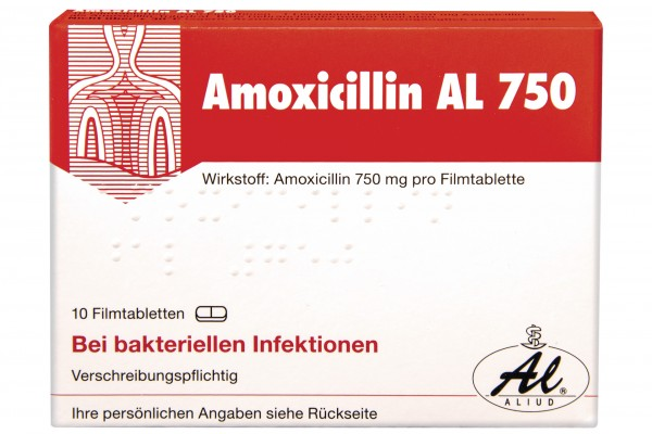 AMOXICILLIN AL 750 mg Filmtabletten 10 Stück