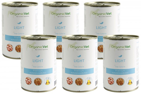 OrganicVet HUND Nassfutter LIGHT low Calorie 6 x 400 g Dose